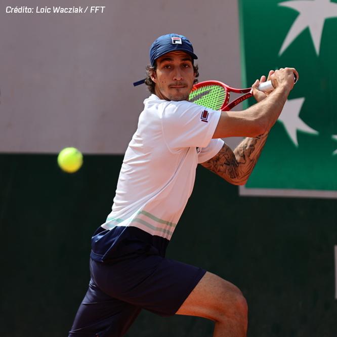 Meligeni cai na última rodada do quali de Roland Garros