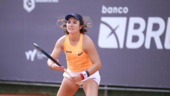 Gabriela Cé é destaque no primeiro dia no ITF de Rio do Sul